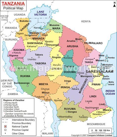map ya africa tanzania map and tanzania satellite images