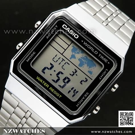 Casio A500wa 1df Stainless Steel World Time 100 New Original buy casio world time alarms digital a500wa 1df buy watches casio nz watches