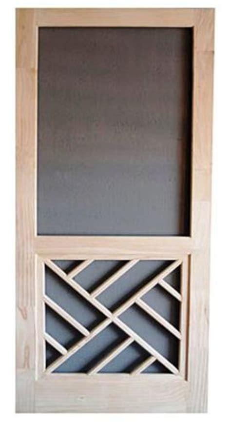 Screen Door Menards by Chippendale Panel Wood Swinging Screen Door 32 Quot W X 80 Quot H