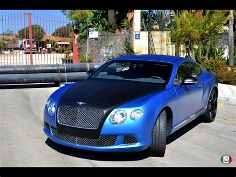 matte blue bentley vinyl wraps bentley continental gt blue matte