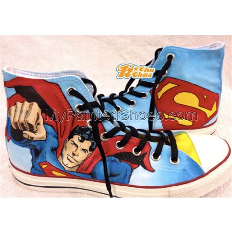 Superman Canvas Shoes sushi painted shoes painted sushi canvas shoes