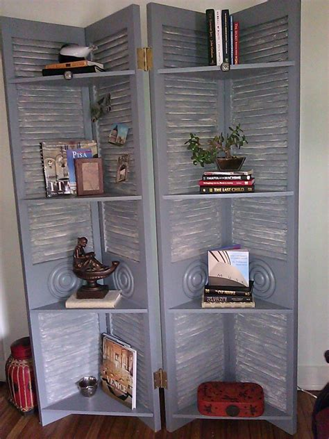 A Screen Bookcase Used In The 2011 Kcsa Showhouse This Shutter Doors For Closet