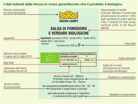 etichette alimenti logo biologico ed etichettatura negozi bio