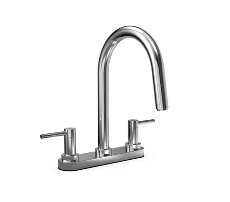 jalo moderno 2 handle pull kitchen faucet chrome