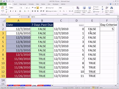 tasc colors for today excel magic trick 750 7 days past due conditional