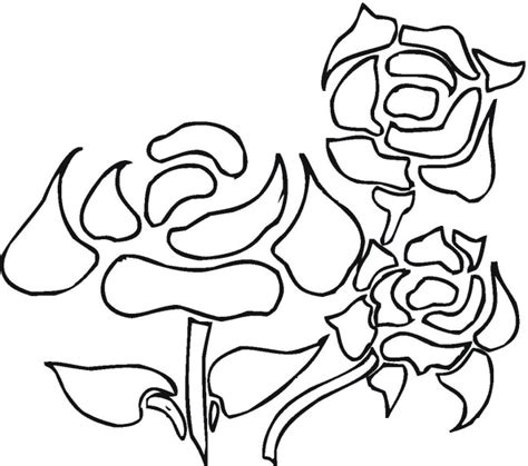 Free Flowers Coloring Pages Roses And Hearts Coloring Pages 2