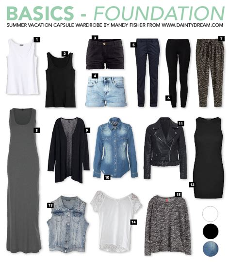 Summer Vacation Capsule Wardrobe by The Dainty By Mandy Fisher Travel Summer Vacation