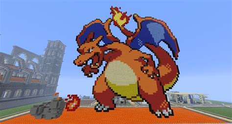 building all the pokemon in minecraft charizard youtube