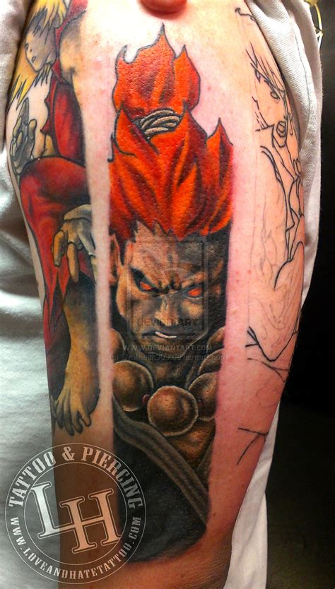 akuma tattoo fighter akuma by synthetik909 on deviantart