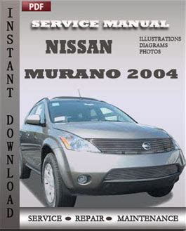 car service manuals pdf 2004 nissan murano navigation system nissan murano 2004 service manual pdf download servicerepairmanualdownload com