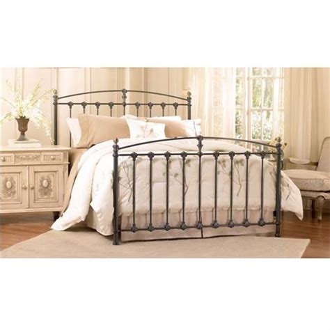 King Size Bed Frame Assembly Bello Steel Frame King Or Size Bed No Tools Assembly Graphite B552
