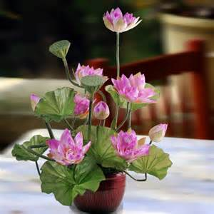 Lotus Flower Arrangement Artificiail Lotus Flowers Table Arrangement