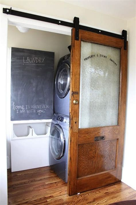 sliding door flat track barn door   laundry room