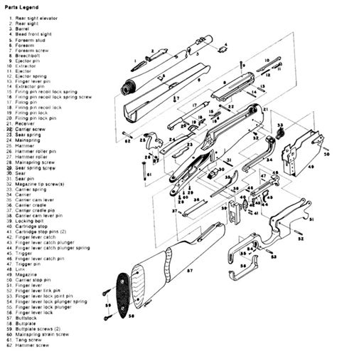 marlin c 9 parts diagram original winchester model 1895 help within winchester