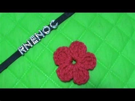 como tejer flores de 5 petalos a crochet muy facil how como tejer flor simple ganchillo crochet mo 209 o alas