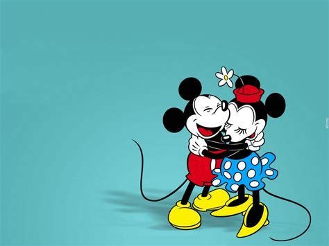wallpaper classic cartoon mickey mouse lovely cartoon classic hug wallpaper