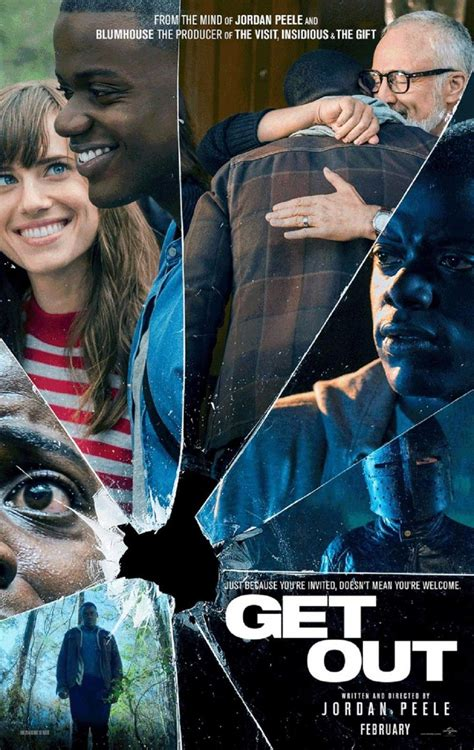 get out get out 2017 poster 1 trailer addict
