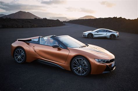 bmw i8 2019 bmw i8 roadster updated i8 coupe debut in l a