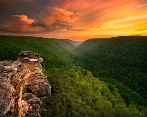 sunset  blackwater falls state park wv photo  steve perry  earthporn
