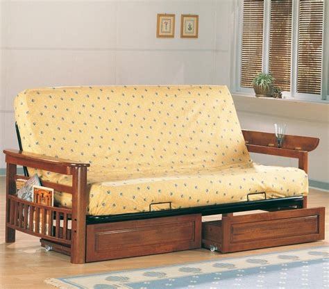 oak futons cardinal collection 4075 oak futon