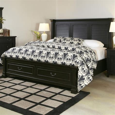 shutter bedroom furniture folio 21 ravenswood king bed with shutter headboard and storage footboard wilson s