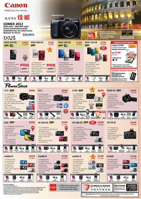 digital prices comex 2012 canon eos dslr ixus powershot cameras price