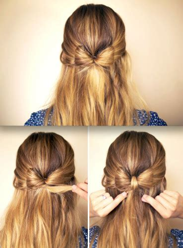 bow in her hair and rear view put a bow on it 5 easy bow hairstyles