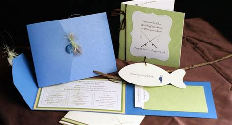 fish wedding invitations fishing wedding invitations kool wedding ideas