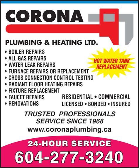 Corona Plumbing Supply corona plumbing heating ltd 12740 trites rd richmond bc