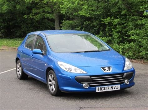blue peugeot for sale used peugeot 307 2007 petrol blue with for sale autopazar