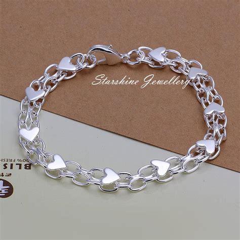 Charm Bracelet 925 Sterling Silver Gelang Blueyellow 925 sterling silver filled charm chain bracelet new design ebay
