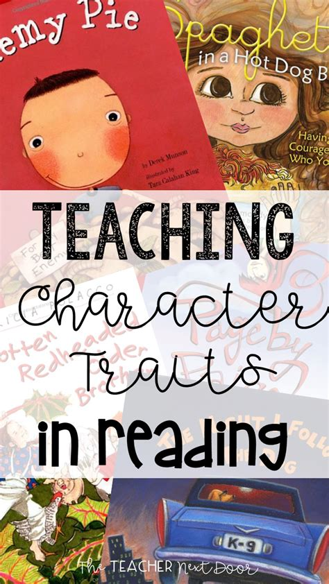picture books to teach character traits teaching character traits in reading