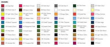 pastel color chart faber castell colour chart colin bradley