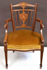 edwardian armchairs edwardian inlaid mahogany armchair antiques atlas