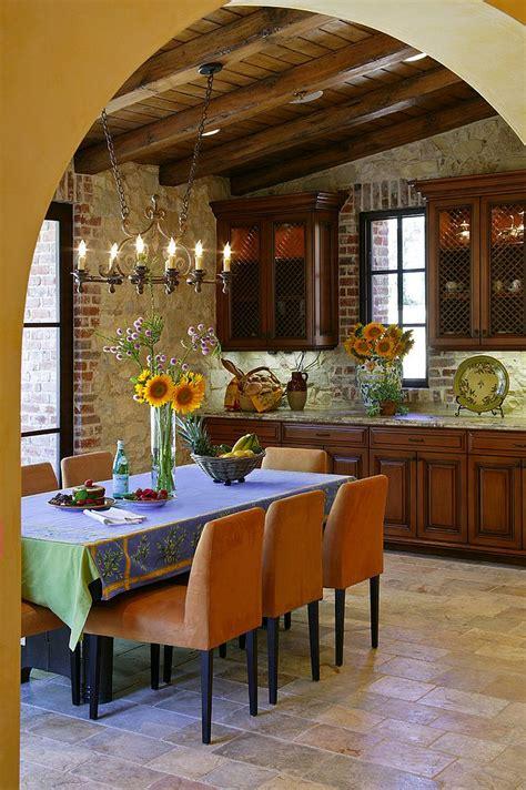 charming  charismatic mediterranean dining room design