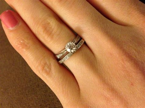 engagement and wedding bands wedding band help cathedral solitaire e ring show me