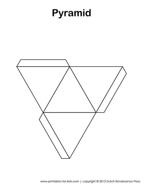 foldable pyramid template 3d shapes for