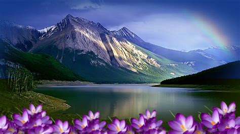 wallpapers for laptop with high resolution nature lake wallpaper high resolution hd lakes rainbow