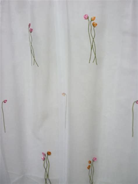 gardinen 3 meter lang stores gardinen stoff organza blume hochwertig bestickt