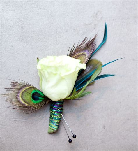 themes rosefeather peacock feather rose button hole i d make this with a