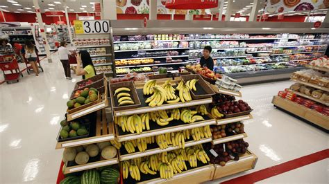 target food section target shoppers just don t find the fresh groceries all