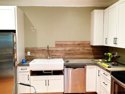 wood backsplash kitchen laminate flooring backsplash it looks like wood bower