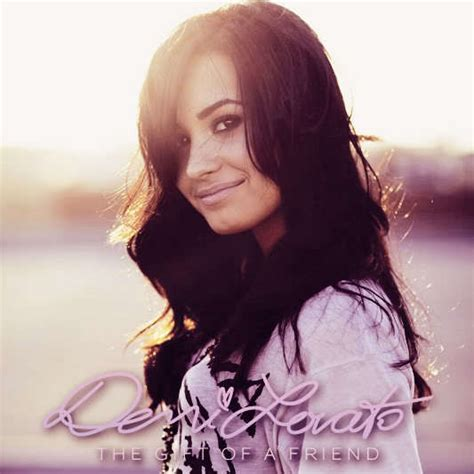 demi lovato song the gift of a friend gift of a friend fanmade single cover here we go again