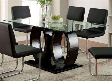Lodia Set lodia i black dining room set furniture of america