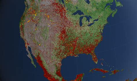 october 2012 mapping worlds u s fires 2012 image of the day