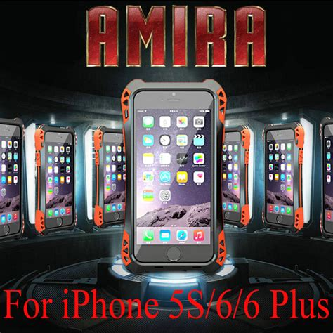 R Just Metal Cover Iphone 6 6 Plus Iron r just cover for iphone 6 4 7 quot 6 plus 5 5 waterproof shockproof metal aluminum gorilla