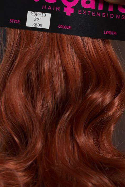 Velleza Set 2in1 ponytail clip in hair extensions copper 350 reversible 4 styles claw clip ebay