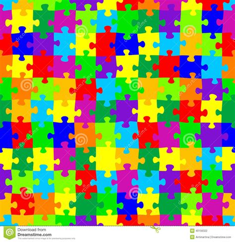 jigsaw pattern vector seamless jigsaw puzzle pattern stock vector image 40156322