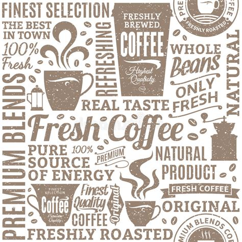 coffee shop background pattern royalty free vector image retro styled typographic vector coffee shop seamless