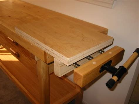 modified harbor freight work bench  quick exchange